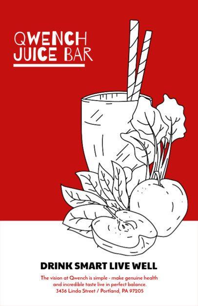 Online Flyer Maker for Juice Cocktails 394d