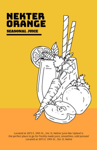 Online Flyer Maker for Juice Bar Designs 394f