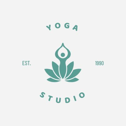 Yoga Studio Logo Maker with Line Art 1273a