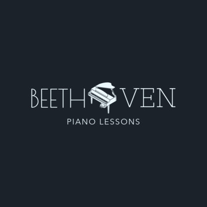 Custom Logo Maker for School with Piano Lessons 1291b