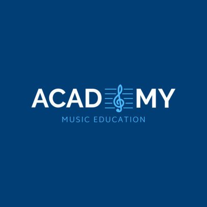 Online Logo Template for Music Academy with Music Icons 1291d