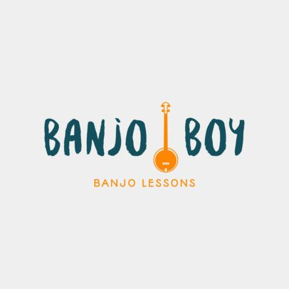 Online Logo Maker for Music Schools with Banjo Lessons 1291e