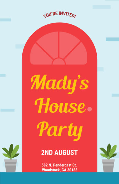 Online Flyer Maker for House Parties 430