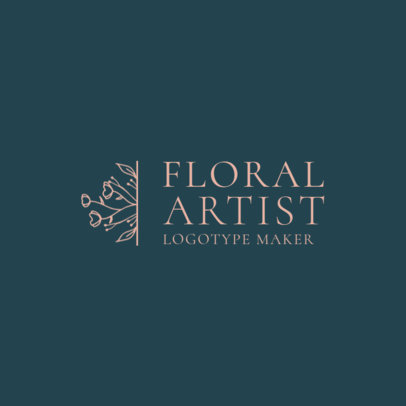 Florist Logo Maker with Flower Illustration 1271c
