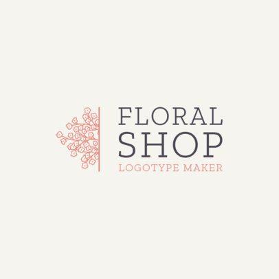 Online Logo Template for Flower Shops 1271e