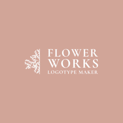 Flower Shop Logo Maker with Flower Clipart 1271f