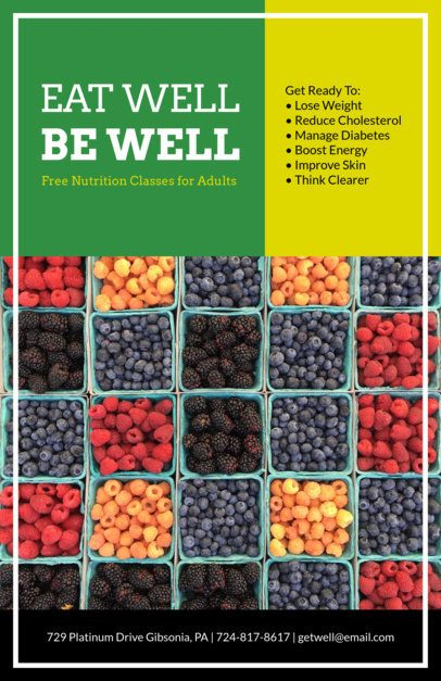 Nutrition Flyer Design Template 426