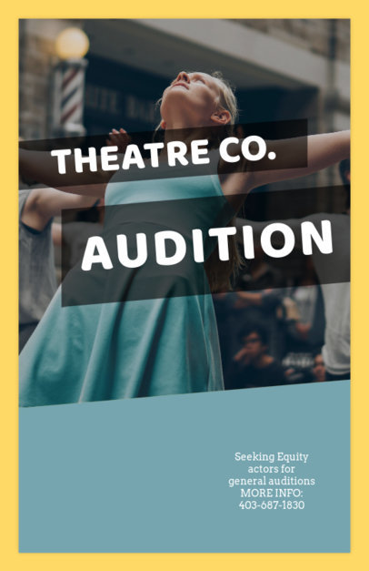 Casting Flyer Maker for Theatre Auditions 427a