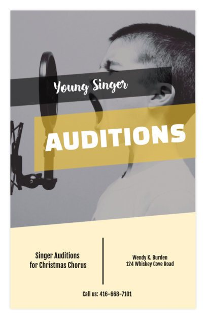 Flyer Maker for Singing Auditions 427c