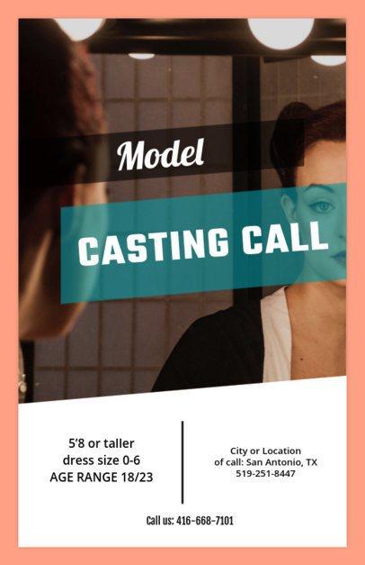 Online Flyer Maker for Model Casting Calls 427d