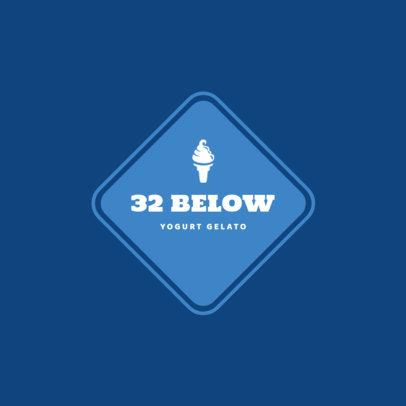 Logo Maker for Nitrogen Ice Cream Shops 1260b