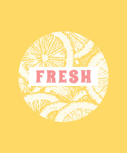 T-Shirt Design Template with Fruit Images 266c