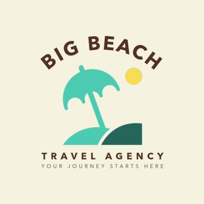 Travel Agency Logo Maker with Beach Icons 1281a