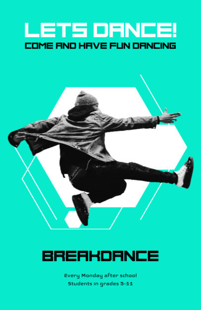 Online Flyer Maker for Breakdance Classes 432c