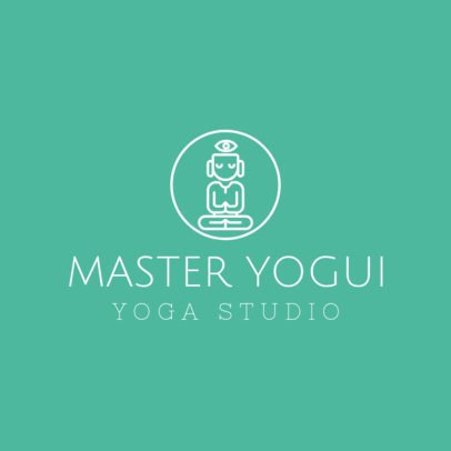 Online Logo Template for Yoga Studio with Yoga Images 1296c