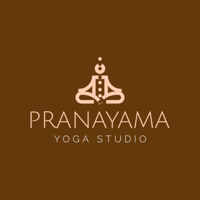 Custom Logo Maker for Yoga Schools with Yoga Symbols 1296e
