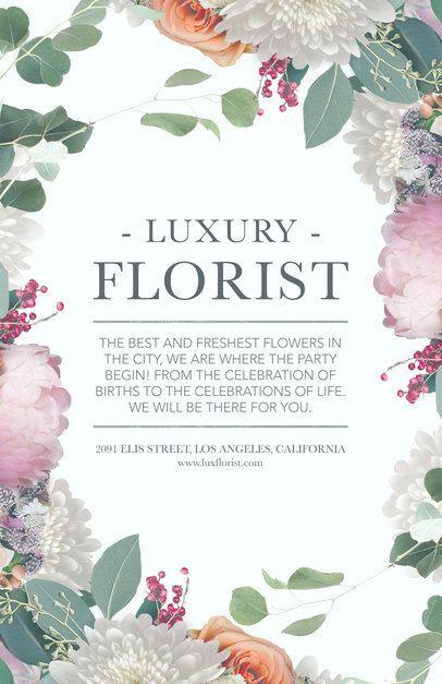 Online Flyer Maker for Flower Boutiques #434