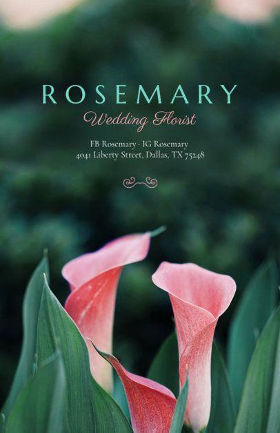 Online Flyer Maker for Wedding Florists 431a