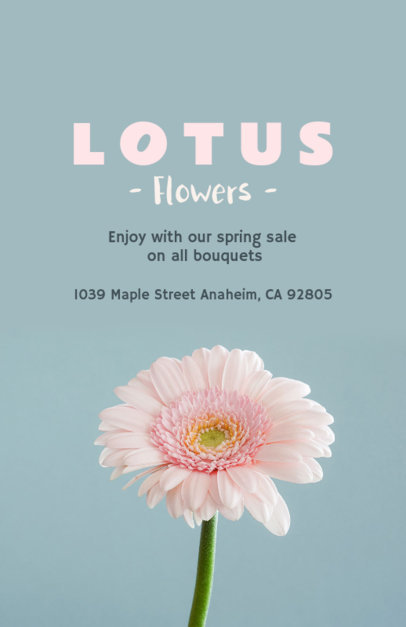 Online Flyer Maker for Florists with Daisy Image 431e