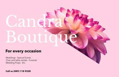 Horizontal Flyer Maker for Floral Boutiques 425d