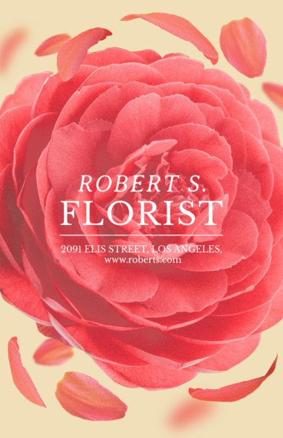Flyer Maker for Flower Shops with Flower and Petals Image #434e