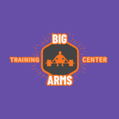 Gym Logo Maker for a Fitness Center 1266b