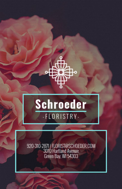 Online Flyer Maker for Florists with Peony Background 440e
