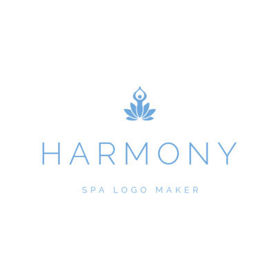 Spa Logo Maker with Simple Design 1293a