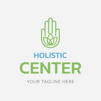 Custom Logo Maker for Holistic Centers with Hamsa Hand Icon 1294e
