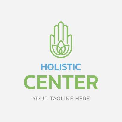 Custom Logo Maker for Holistic Centers with Hamsa Hand Icon 1294e