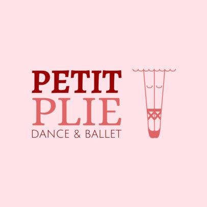 Custom Logo Maker for Ballet Academies with Dance Clipart 1300b