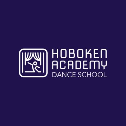 Online Logo Maker for Dance Schools with Stage Icon 1300c