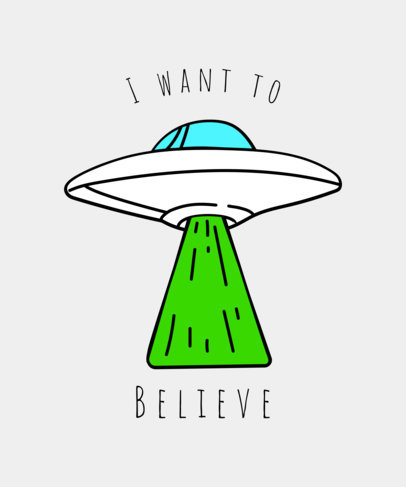 Alien Invasion T-Shirt Design Template 437