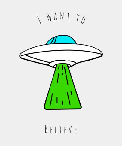 Alien Invasion T-Shirt Design Template 437