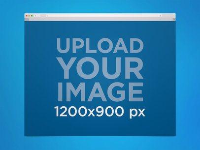 Safari Browser Mockup in a MacOS Desktop 21929