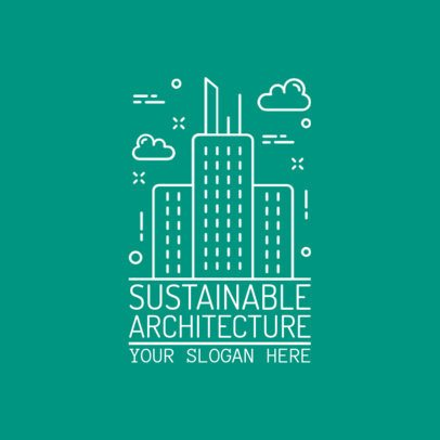 Logo Maker for Architectural Studios with Line Art 1282c