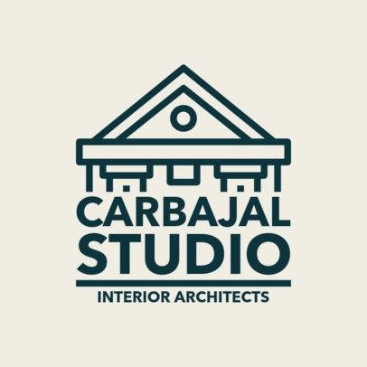 Custom Logo Maker for Architectural Studios with Centered Alignment 1282e