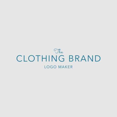Logo Design Template for Minimalist Clothing Brand 1317
