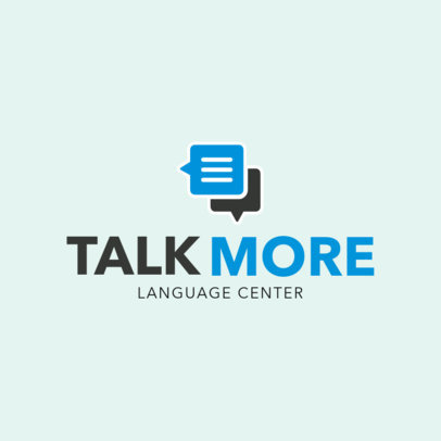 Logo Design Template for Language Center 1302