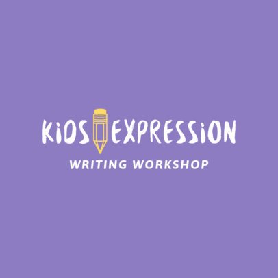 Logo Maker for Kids Writing Club 1306c