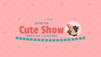 YouTube Banner Maker with Cute Dog Images 401a