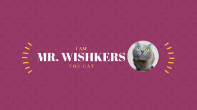 YouTube Channel Art Maker with Cat Images 401e