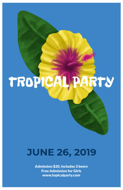 Flyer Maker for a Tropical Party 435b