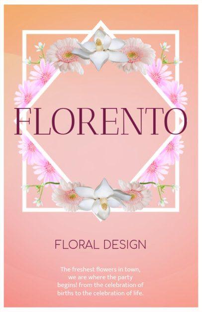Flyer Maker for Florists with Floral Frame 397c