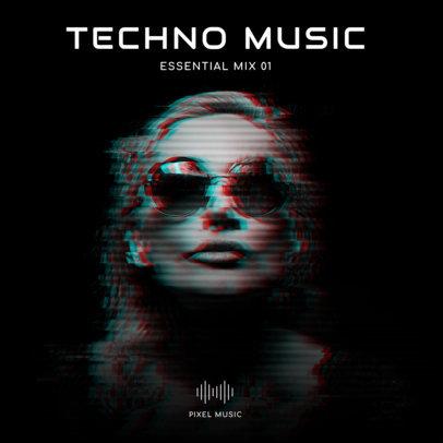 Techno DJ Album Cover Template 473