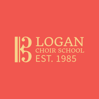 Online Logo Maker for Choir Classes 1308e