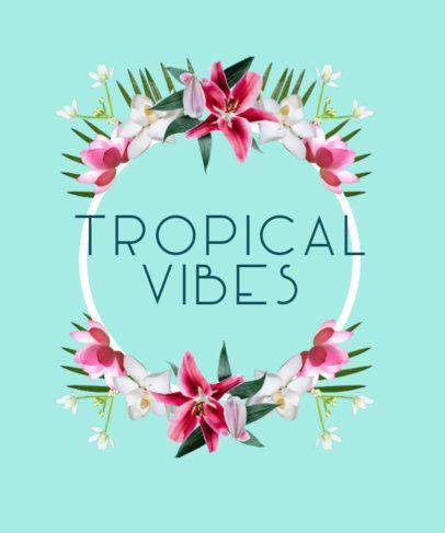 Floral T-Shirt Design Maker with Tropical Flowers 479d