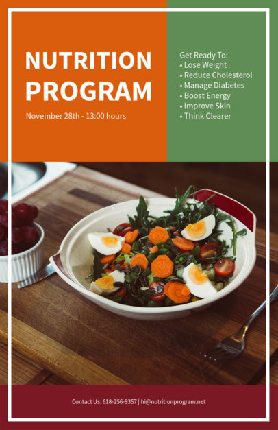 placeit healthy nutrition flyer design template