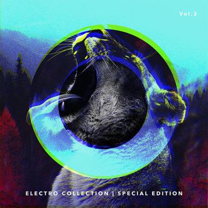 Design Template for Electro-Music Album 469