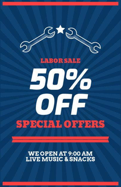 Labor Day Super Sale Flyer Template 429a